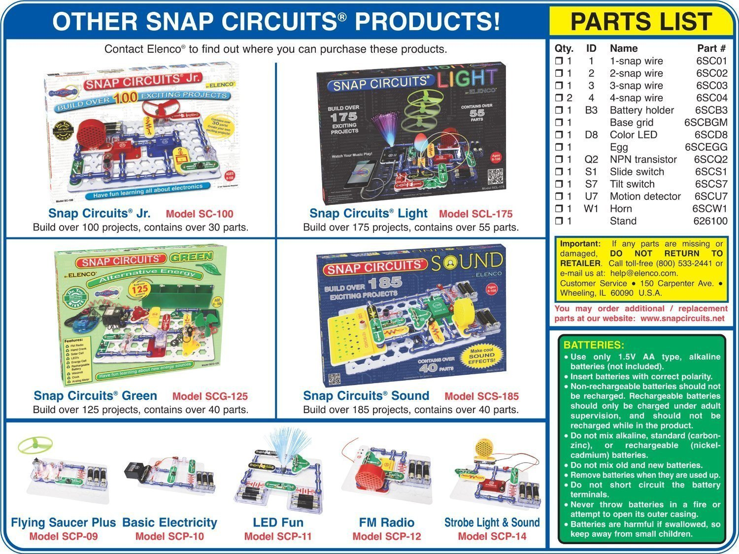 Buy Snap Circuits Projecth Electronics Discovery Kit R Motion Jr With 100 Projects Sc100 Detector Toys Online At Low Prices In India