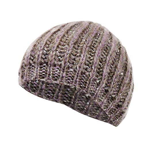 901be6b25fa Universal Textiles Womens Ladies Winter Cable Hat With Sequin Detail (One  Size) (