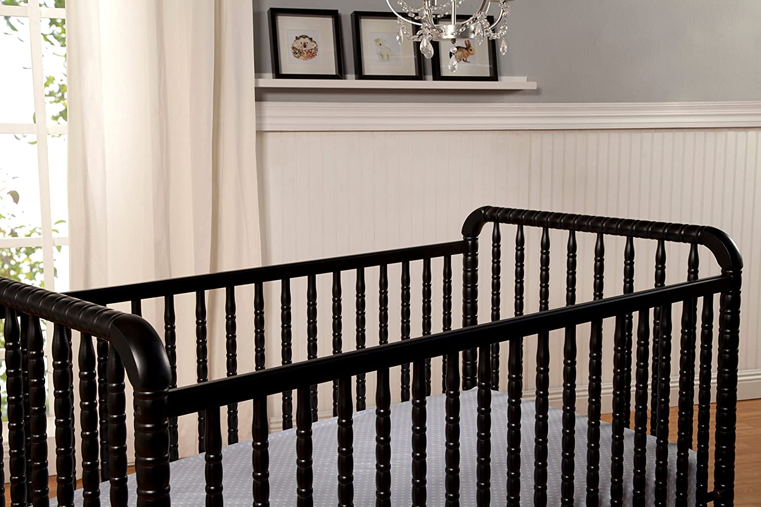 DaVinci Jenny Lind Stationary Crib with Toddler Bed Conversion Kit Lagoon