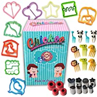 Chickoo 31pcs Sandwich Cutters Set for Kids - Includes Cookie Cutters - Cheese Cutter - Vegetable Cutter - Fruit Cutter…