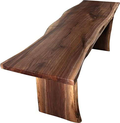 Live Edge Wooden Bench Solid Wood Dining Bench Rustic Home D cor Furniture Natural Edge Wooden Slab Bench 4' Long