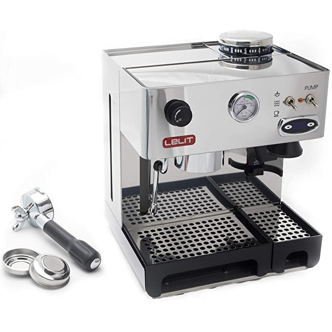 Lelit PL042TEMD Independiente Manual Máquina espresso 2.7L 2tazas Acero inoxidable - Cafetera (Independiente, Máquina espresso, 2,7 L, Molinillo integrado, ...