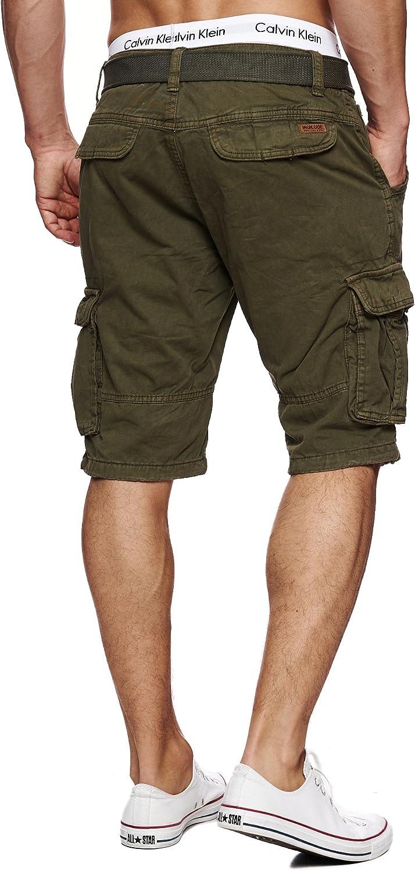 G/ürtel aus 100/% Baumwolle M/änner in 10 Farben /& 6 Gr/ö/ßen INDICODE Herren Monroe Cargo ZA Shorts m 6 Taschen inkl Kurze Hose Bermuda Sommer Herrenshorts Short Men Pants Cargohose kurz Sommerhose f