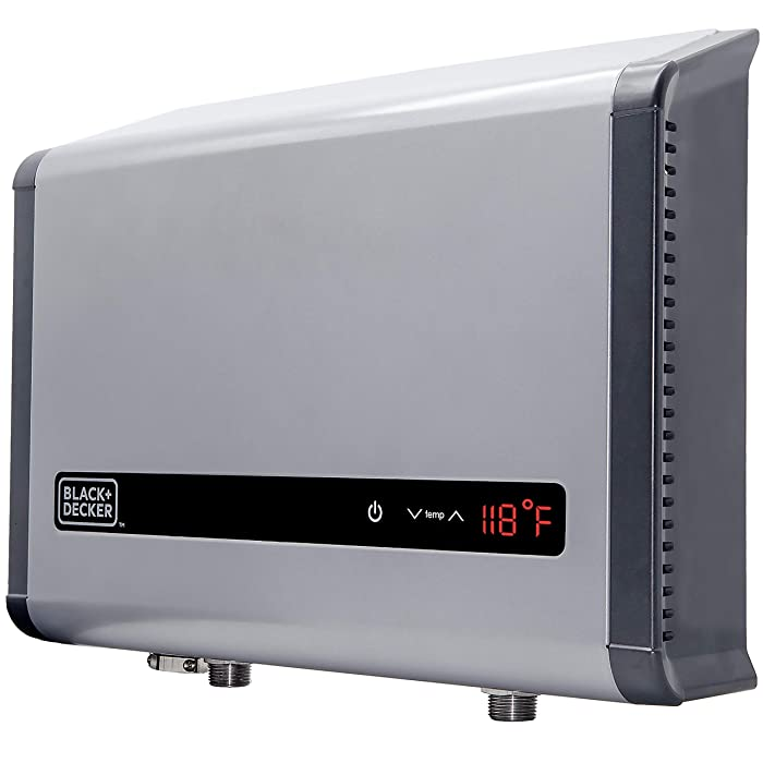 BLACK + DECKER Black+Decker 24 kW Self-Modulating 4.68 GPM Electric Tankless Water Heater, Multi-Application hot water heater electric