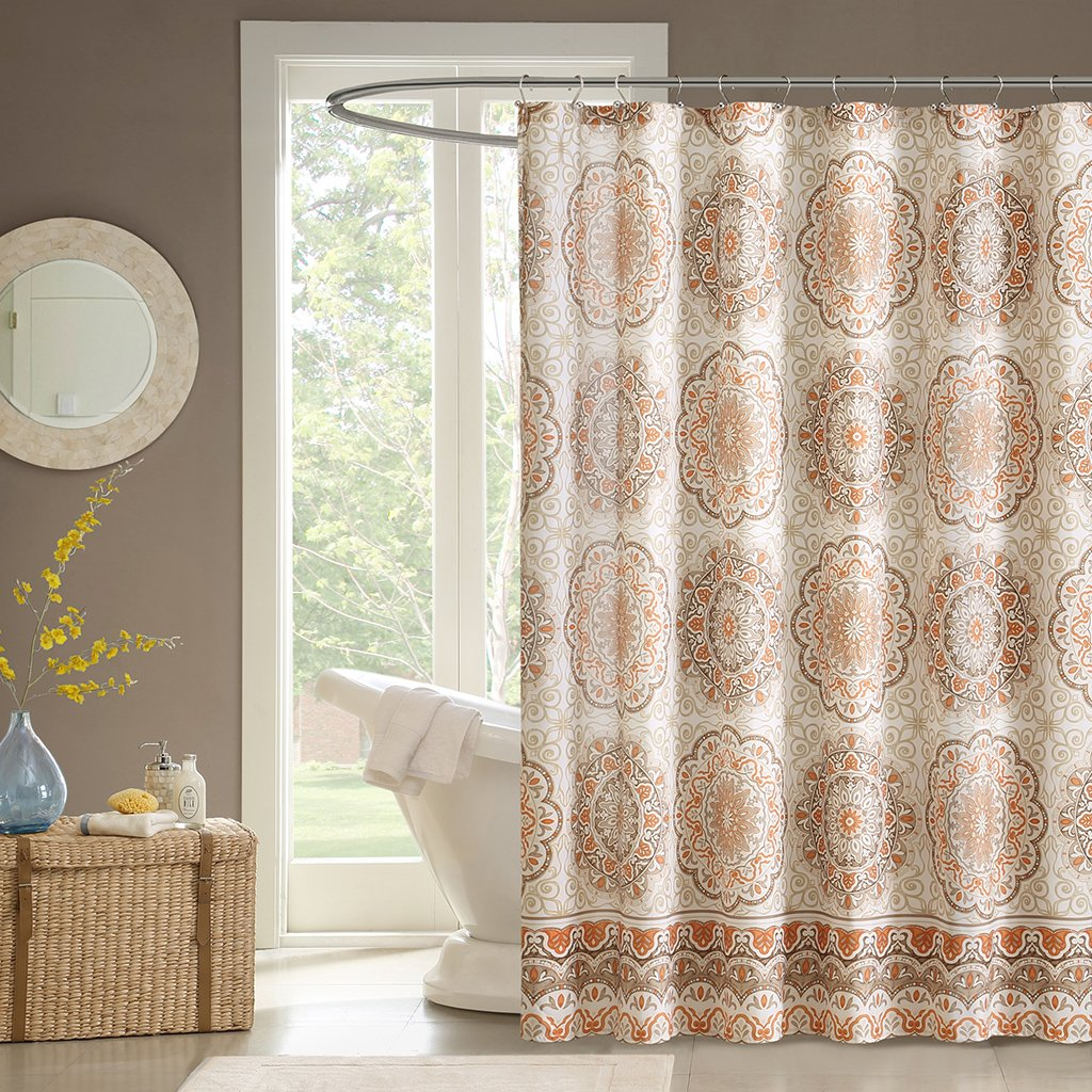 Amazon.com: Madison Park MP70-1489 Tangiers Shower Curtain, 72 x ...