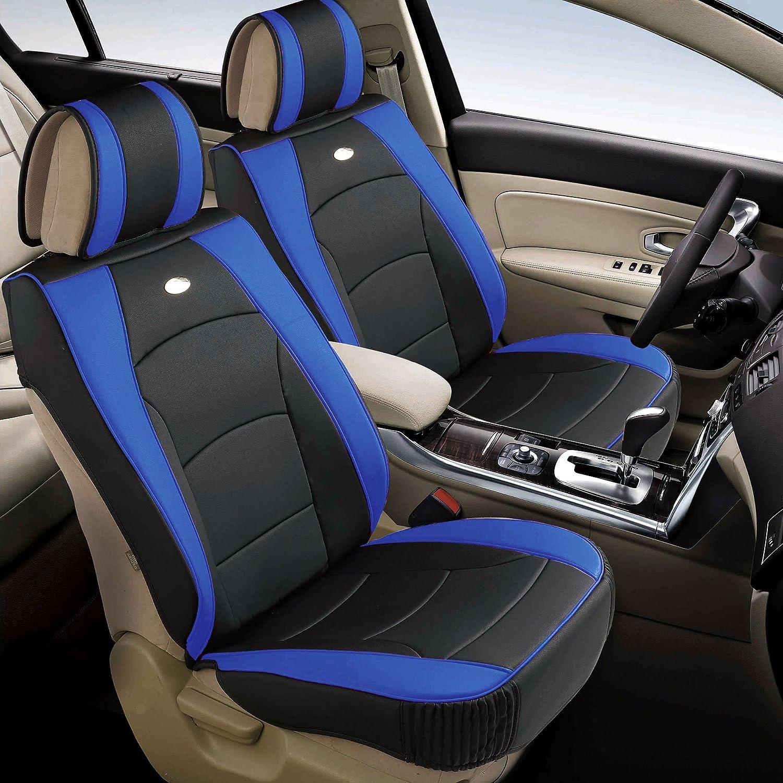 FH Group PU205013GRAYBLACK Bench PU205GRAYBLACK013 Ultra Comfort Leatherette Rear Seat Cushions Gray Black