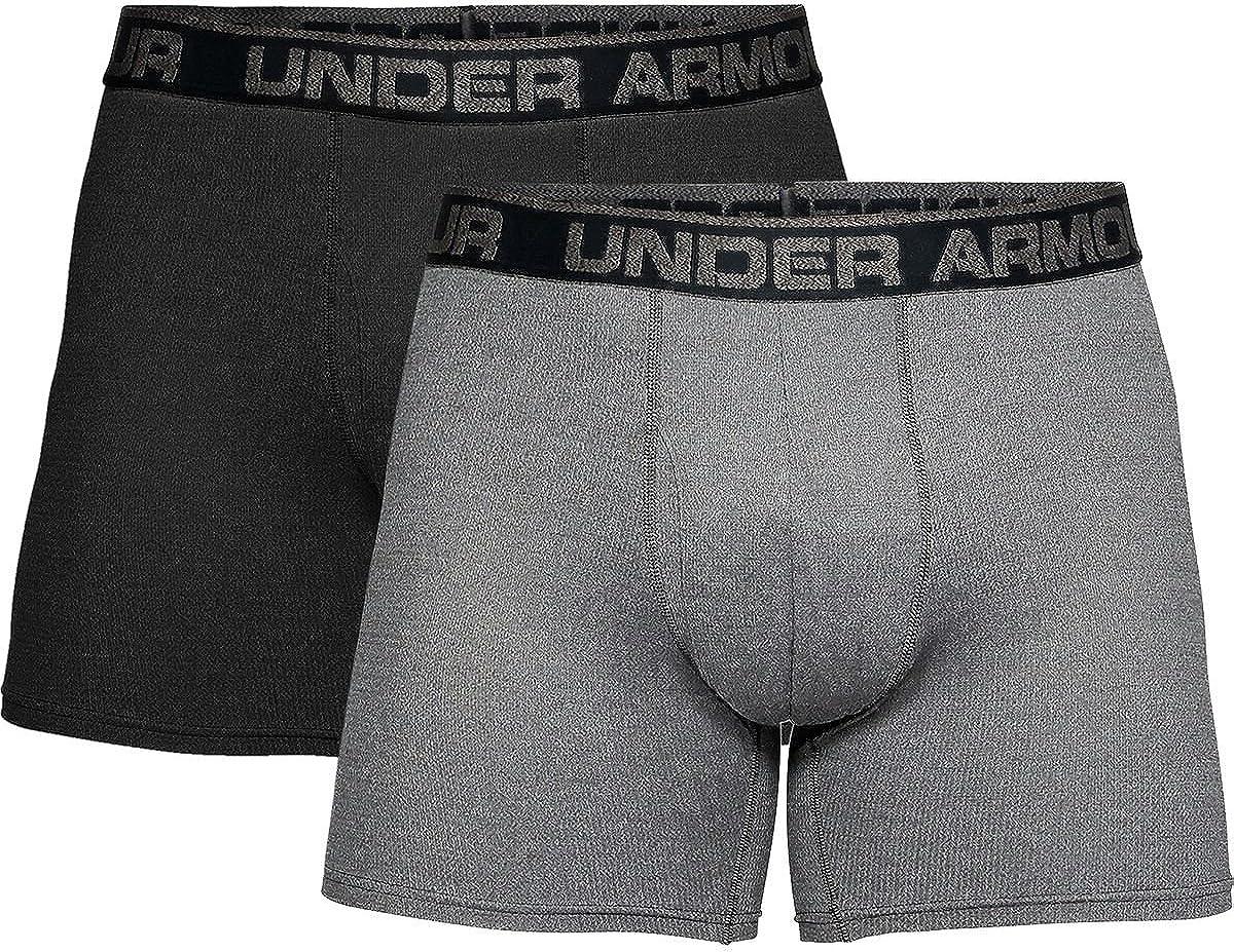 Under Armour Tech Mesh 6in Underwear XXL 2-Pack Black//Charcoal Medium Heather