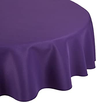LinenTablecloth 90 Inch Round Polyester Tablecloth Purple
