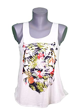 1eea116f24c Debardeur Femme Imprime Tigre - Animal - Illustration Graphique - Tattoo -  Tatouage