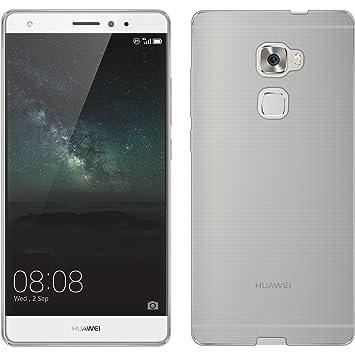 PhoneNatic Funda de Silicona Compatible con Huawei Mate S - Transparente Crystal Clear - Cover Cubierta + Protector de Pantalla