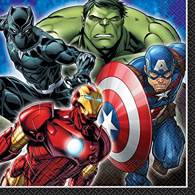 "Unique Marvel Avenger Lunch Napkin 6.5"", 16 Ct.: Toys & Games"