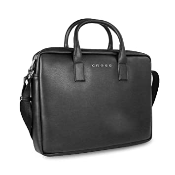 89e816c196 Cross Volt 13 Inch Slim Laptop Briefcase - Black  Amazon.in  Bags ...