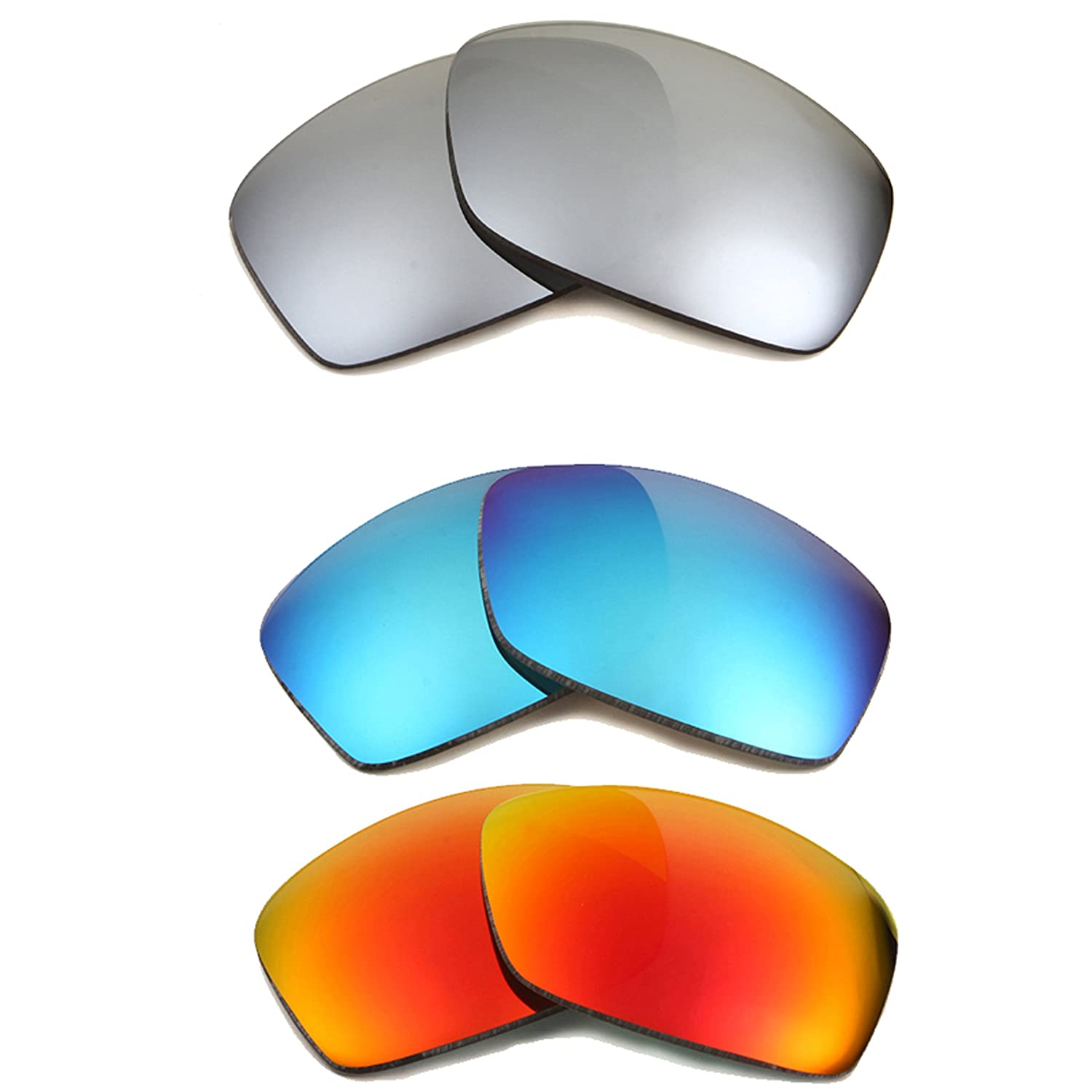 210220a8eca HIJINX Replacement Lenses Blue Red   Silver by SEEK fits OAKLEY Sunglasses  at Amazon Men s Clothing store  Replacement Sunglass Lenses