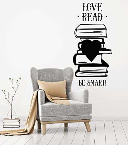 Amazoncom Vinyl Wall Decal Books Quote Library Book Shop Reading - Vinyl wall decals books