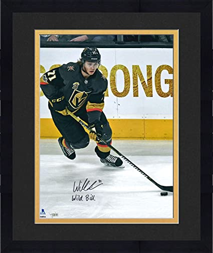 4fa8c3c9fed Framed William Karlsson Vegas Golden Knights Autographed 16 quot  x  20 quot  Black Jersey Skating Photograph