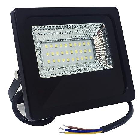 VARICART 20W Noche al Día LED Reflector, IP65 Resistente al Agua ...