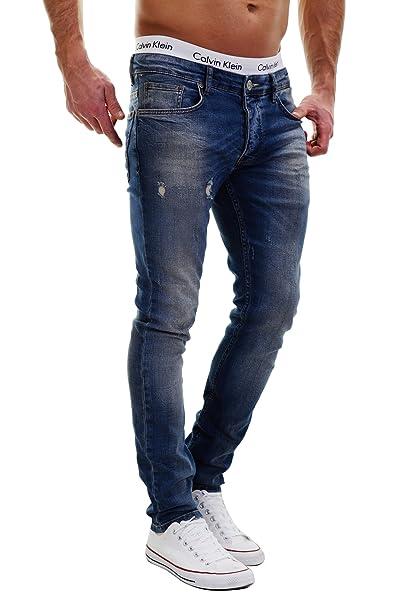 afc713630b merish de 5 Pocket Denim Jeans Stretch Used Look Skinny Modelo j2021 Azul  azul  Amazon.es  Ropa y accesorios