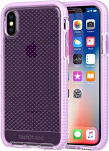 tech21 - Phone Case Compatible with Apple iPhone X - Evo Check - Orchid