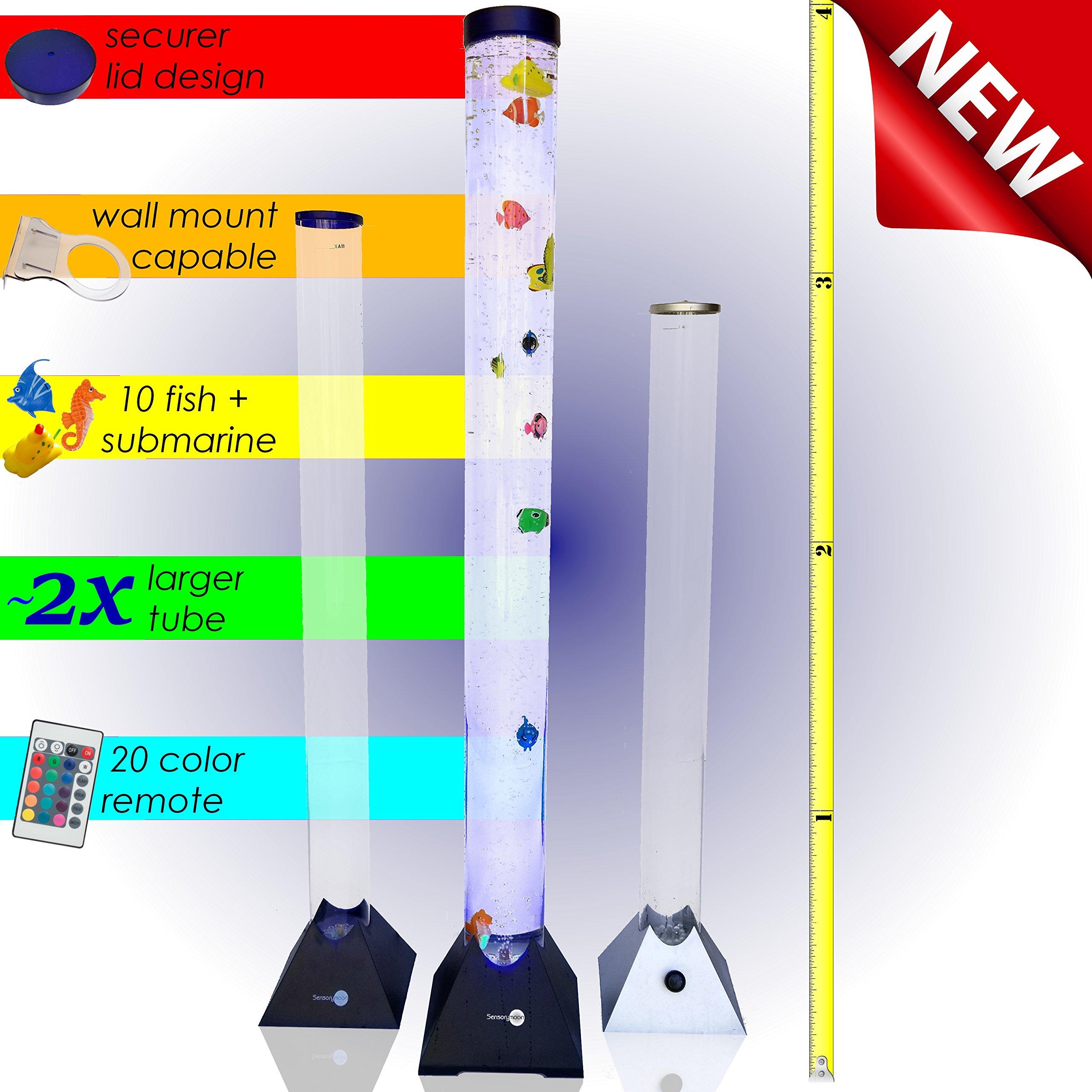 Sensorymoon 3 9 Ft Bubble Tube Floor Lamp W 10 Fish 20
