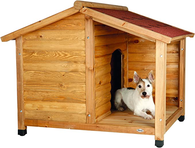 Trixie - Caseta Madera Natura, con Porche, S, 100×82×90 cm: Amazon.es: Productos para mascotas