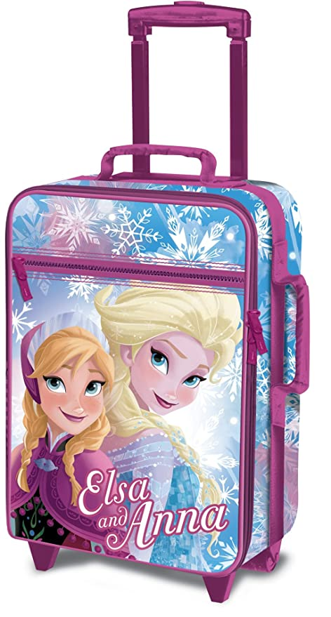 online here lowest discount release info on Disney Frozen D97690 Valigia Per Bambini, Trolley Da Cabina, 53 Centimetri,  25 Litri, Multicolore