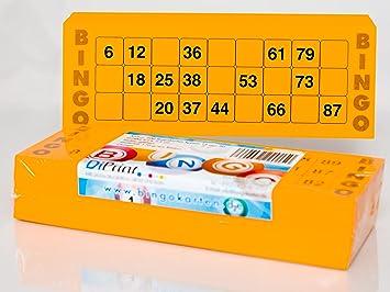 200 grandes Bingo Tarjetas para personas mayores 15 de 90 Números (21 x 7,5 cm): Amazon.es: Juguetes y juegos