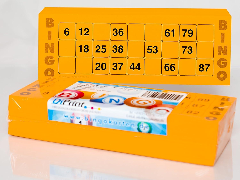 200 cartones de bingo grande para personas mayores sistema 15/90 (color blanco): Amazon.es: Juguetes y juegos
