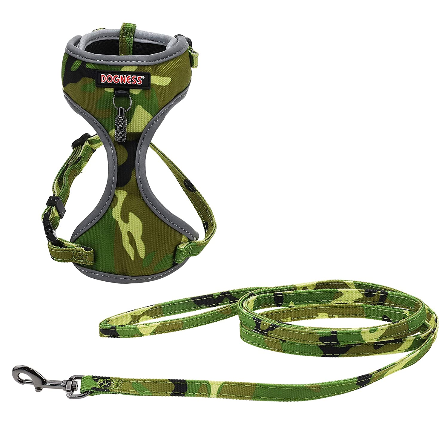 Green DOGNESS Cat&Small Dogs Package Camo GreenSuit for Dog 5kg or Below Tailored for Cats & Small Dogs, Create Harness