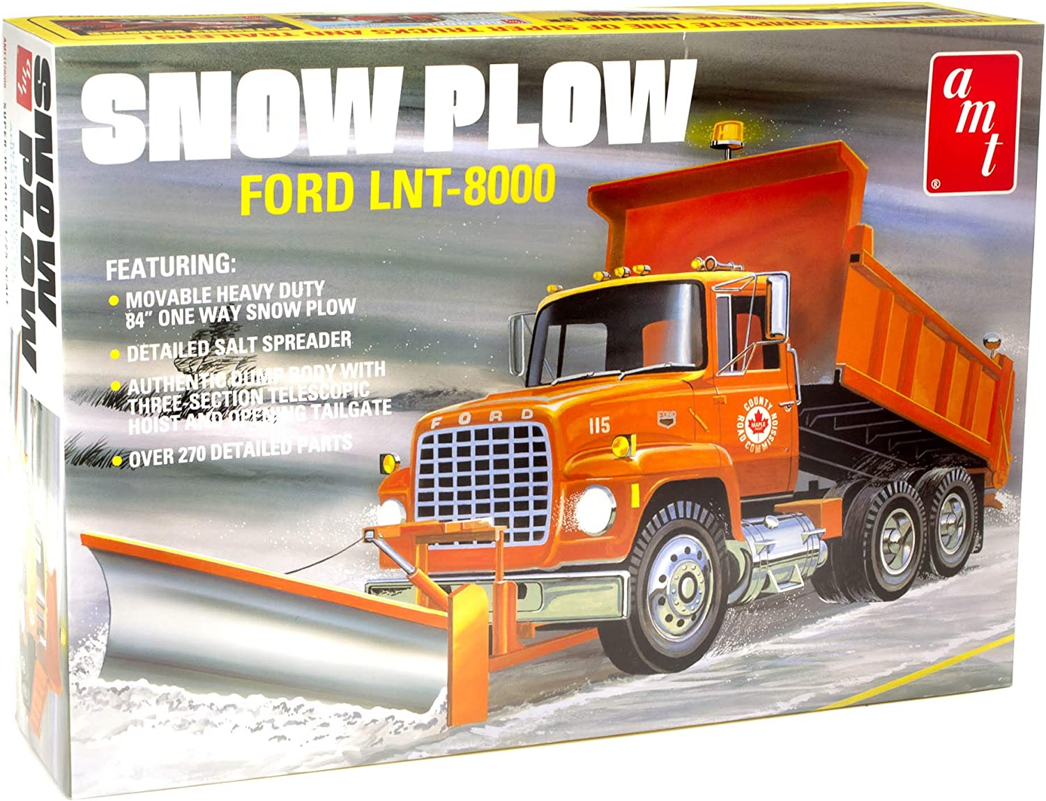AMT Ford LNT-8000 Snow Plow 1:25 Scale Model Kit