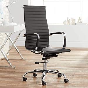 Studio 55D Serge Black High Back Swivel Office Chair