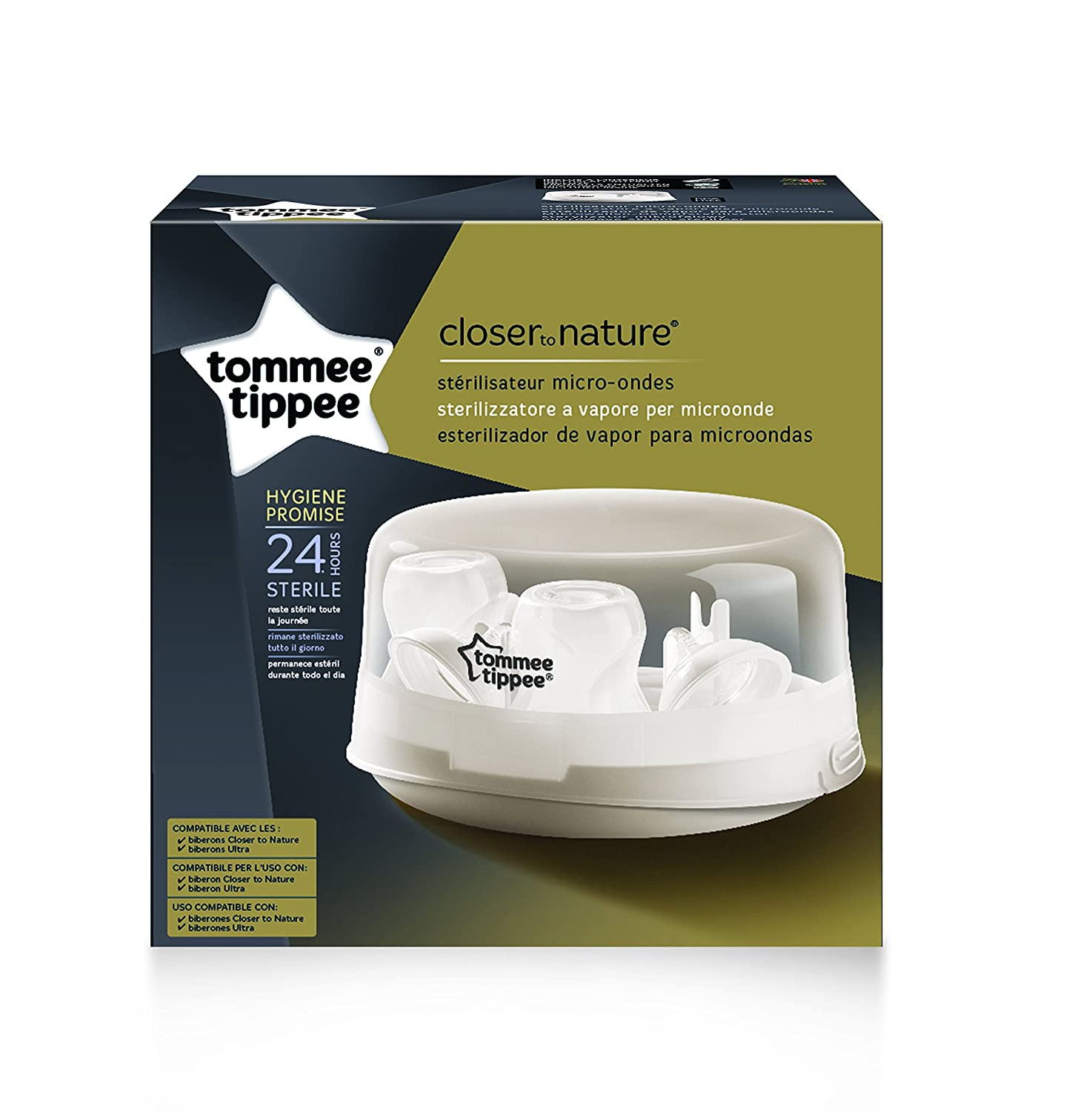 Tommee Tippee Closer to Nature - Esterilizador de vapor para microondas: Amazon.es: Bebé