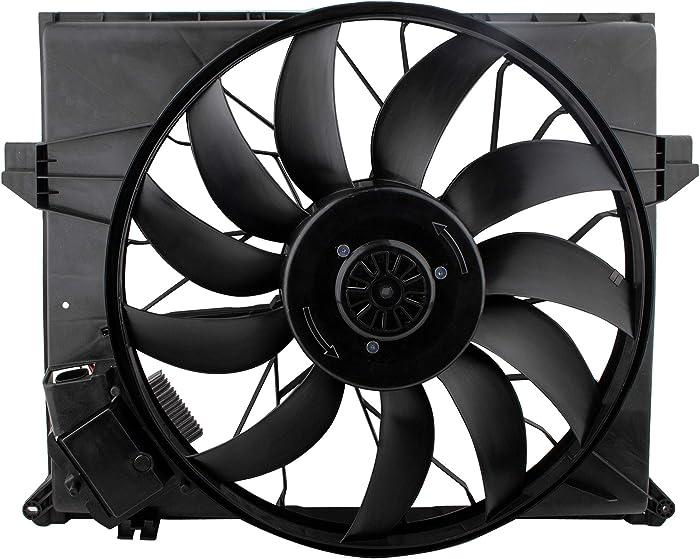 BOXI Radiator Cooling Fan Fits Mercedes-Benz GL320 R320 2007-2009 / GL350 2010-2012 / GL450 2007-2012 / GL500 GL550 2008-2012 / ML320 2007-2008 / ML350 2010-2011 / ML550 2008-2011 Replaces 1645000093