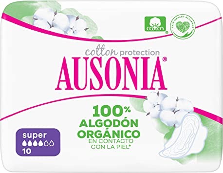 Ausonia Cotton Protection Super (tamaño 2) Compresas Con Alas ...
