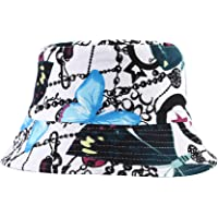 ZLYC Unisex Cute Unique Print Travel Bucket Hat Summer Fisherman Cap