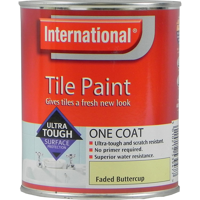 Red Tile Paint For Kitchens International Tile Paint Winter Cloud 750ml Amazoncouk Diy Tools