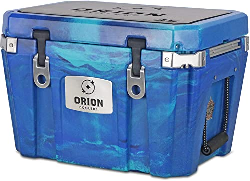 Orion Heavy Duty Premium Cooler 35 Quart, Ocean , Durable Insulated Outdoor Ice Chest for Maximum Cold Retention – Portable, Bear Resistant, and Long Lasting, Great for Hunting, Fishing, Camping