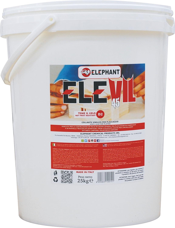 5 KG | Colla vinilica per usi generali ELEVIL45 - Collante professionale per legno S.I. Sviluppo e Investimenti srl