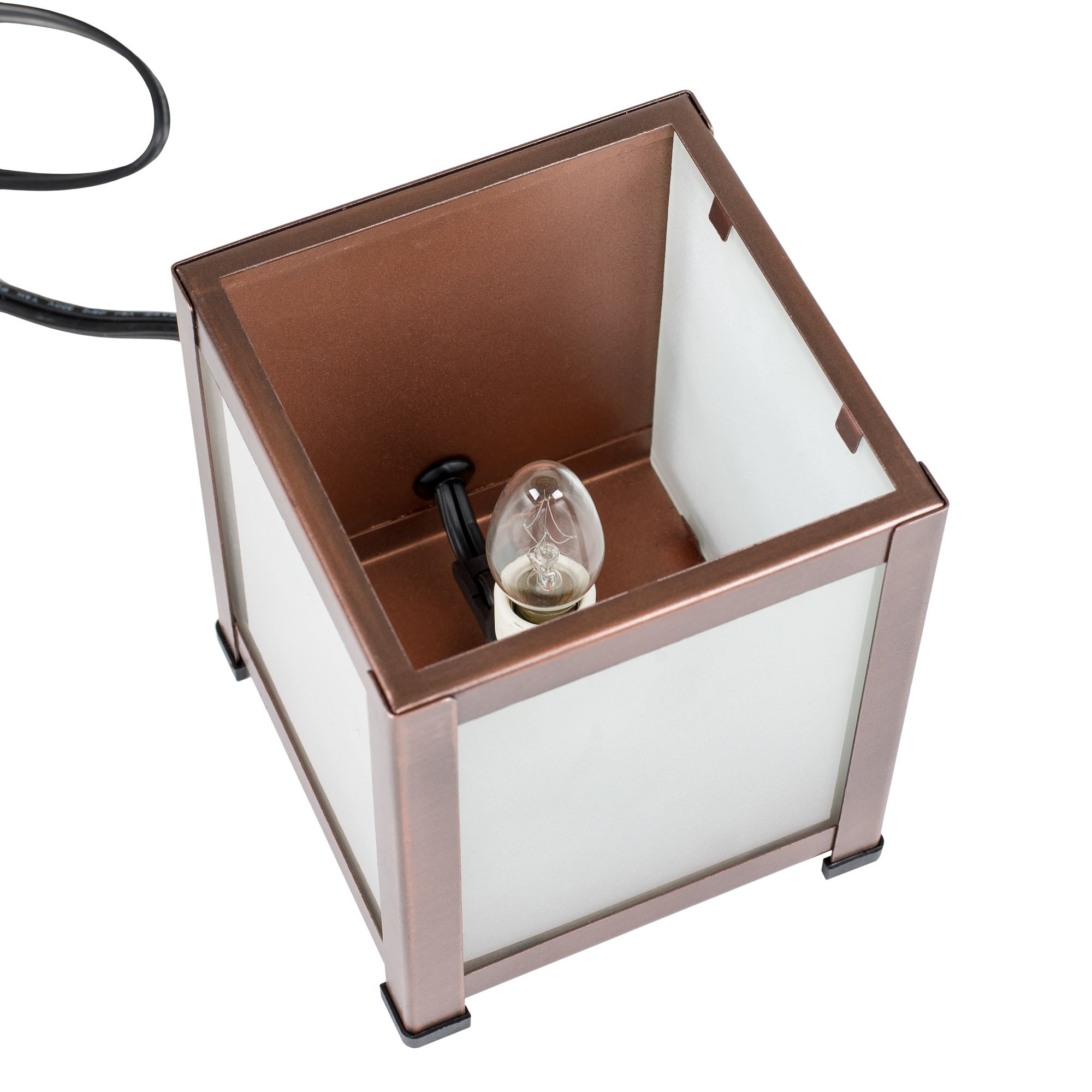 Elanze Designs Enjoy Simple Things Dragonfly Copper Tone Metal Electrical Wax Tart & Oil Glass Lantern Warmer by Elanze Designs (Image #3)