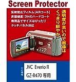 【AR反射防止+指紋防止】JVC R GZ-R470/RX670/GZ-HH140専用 液晶保護フィルム(ARコート指紋防止機能付)