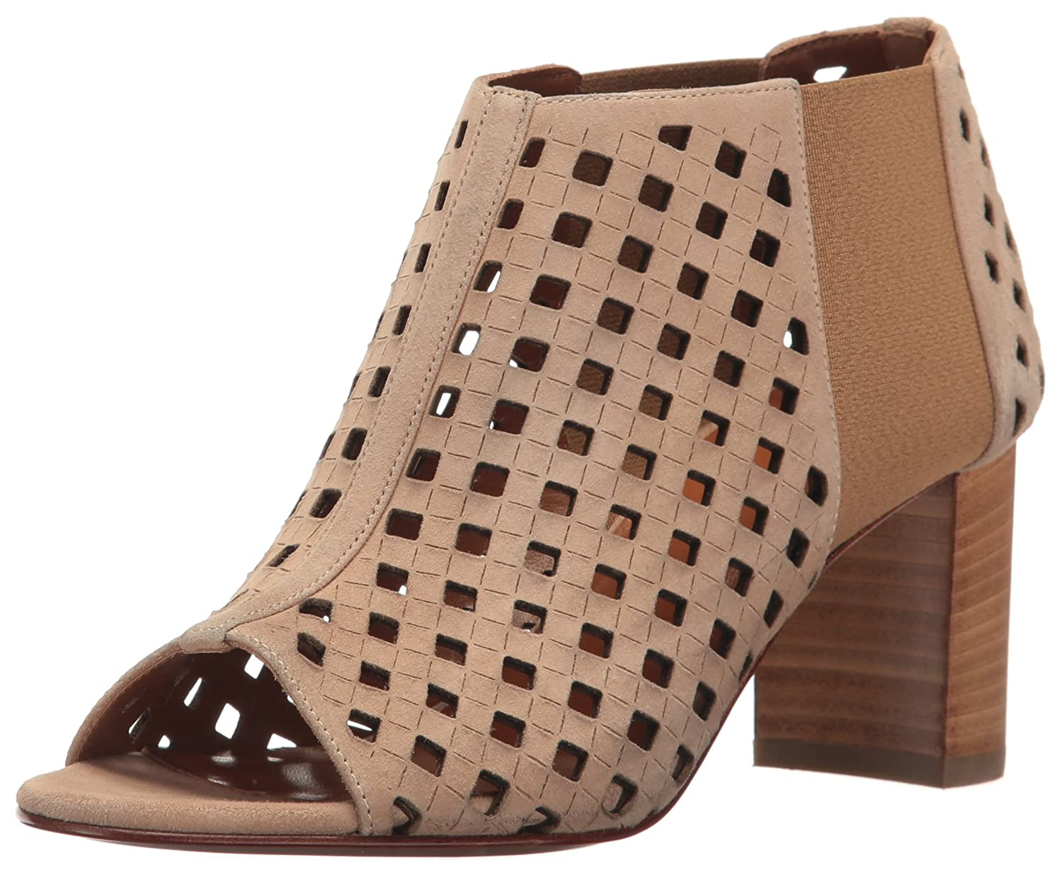 Aquatalia by Marvin K. Women's Shari Perforated Suede Ankle Bootie B01N74UU25 7 B(M) US|Nude