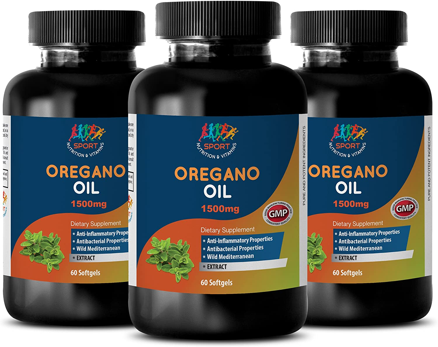 Immune support formula – OREGANO OIL EXTRACT 1500mg – Oil of oregano p73 super strength – 3 Bottles 180 Softgels
