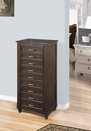 Amazoncom Nathan Direct Contemporary Jewelry Armoire With 9