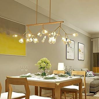 Crystal Linear Chandelier Led Modern Ceiling Light Multi ...
