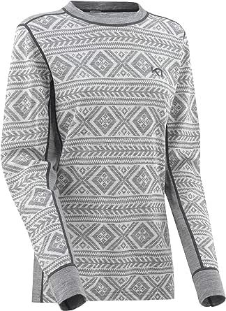 Kari Traa Women's Floke Base Layer Top - Long Sleeve Merino Wool Blend Thermal Shirt