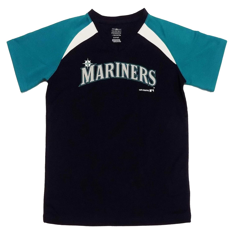 on sale bab93 476d1 Amazon.com: Outerstuff Seattle Mariners Navy Blue Wordmark ...