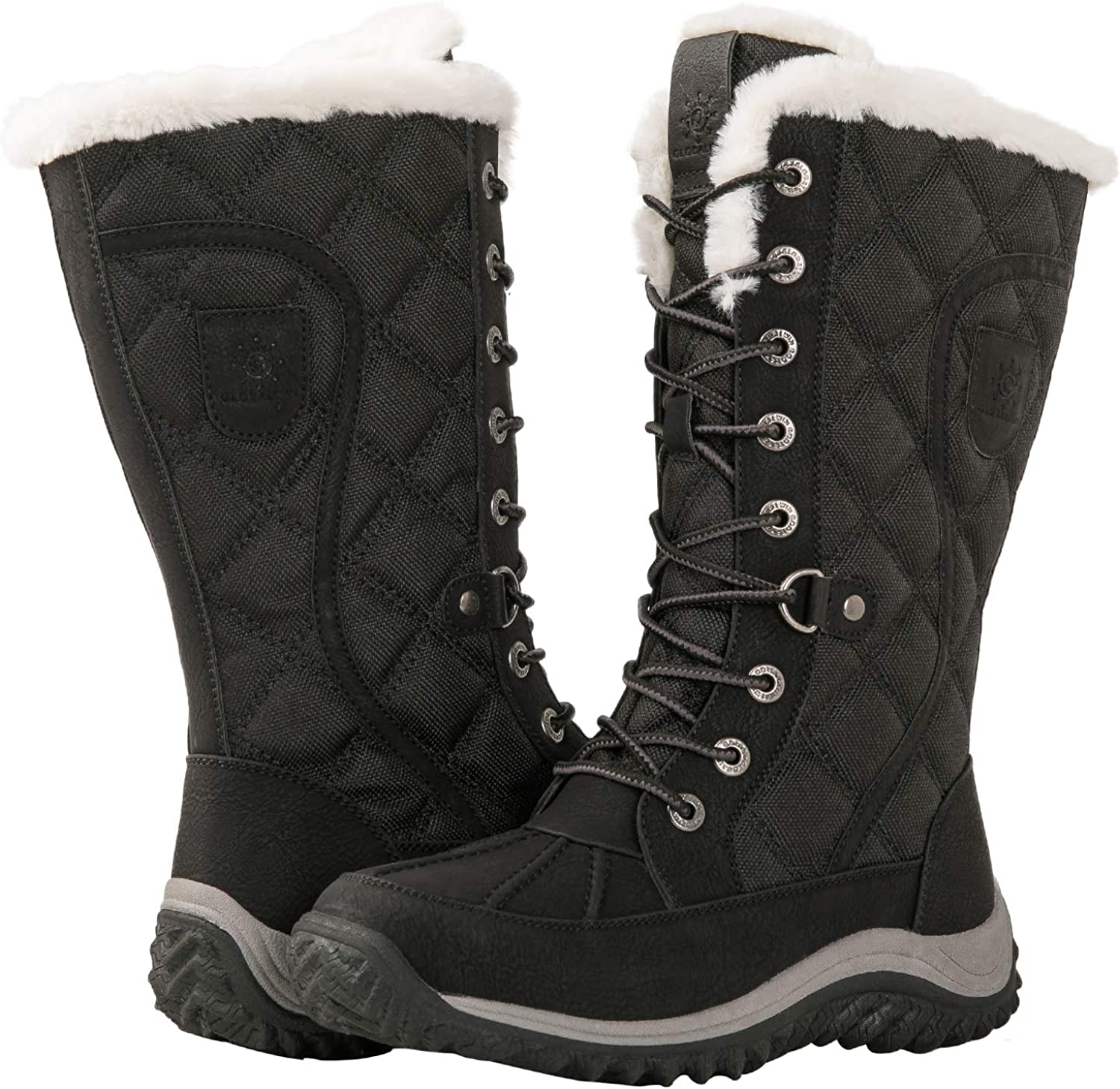 T-JULY Womens Plus Size Hidden Wedges Winter Boots Back Lace-up Mid-Calf Shoes Woman Big Size Snow Boots