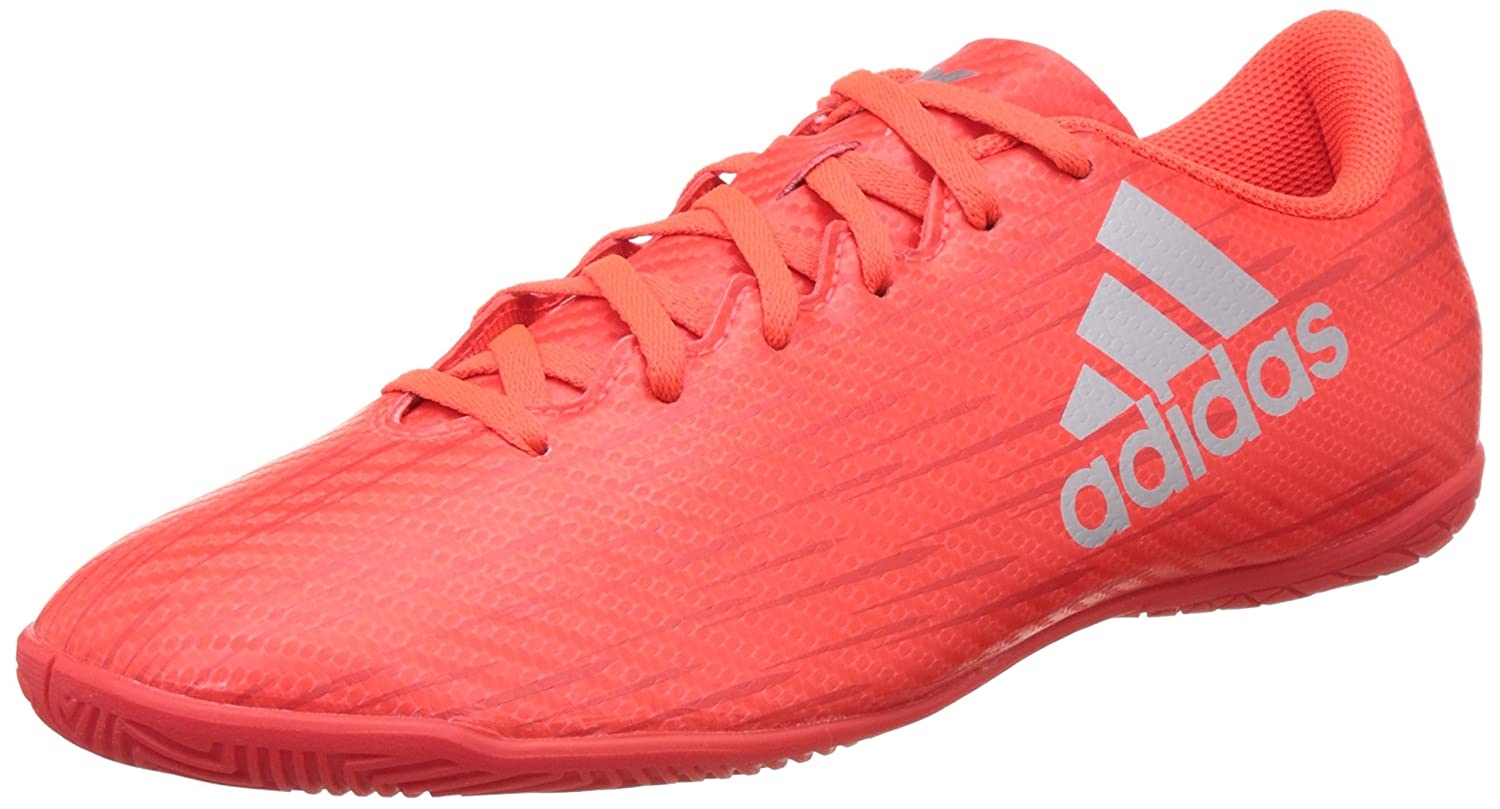 adidas X 16.4 in, Chaussures de Football Entrainement Homme, Rouge (Solar Red/Silver Metallic/Hi-Reset Red), 44 2/3 EU