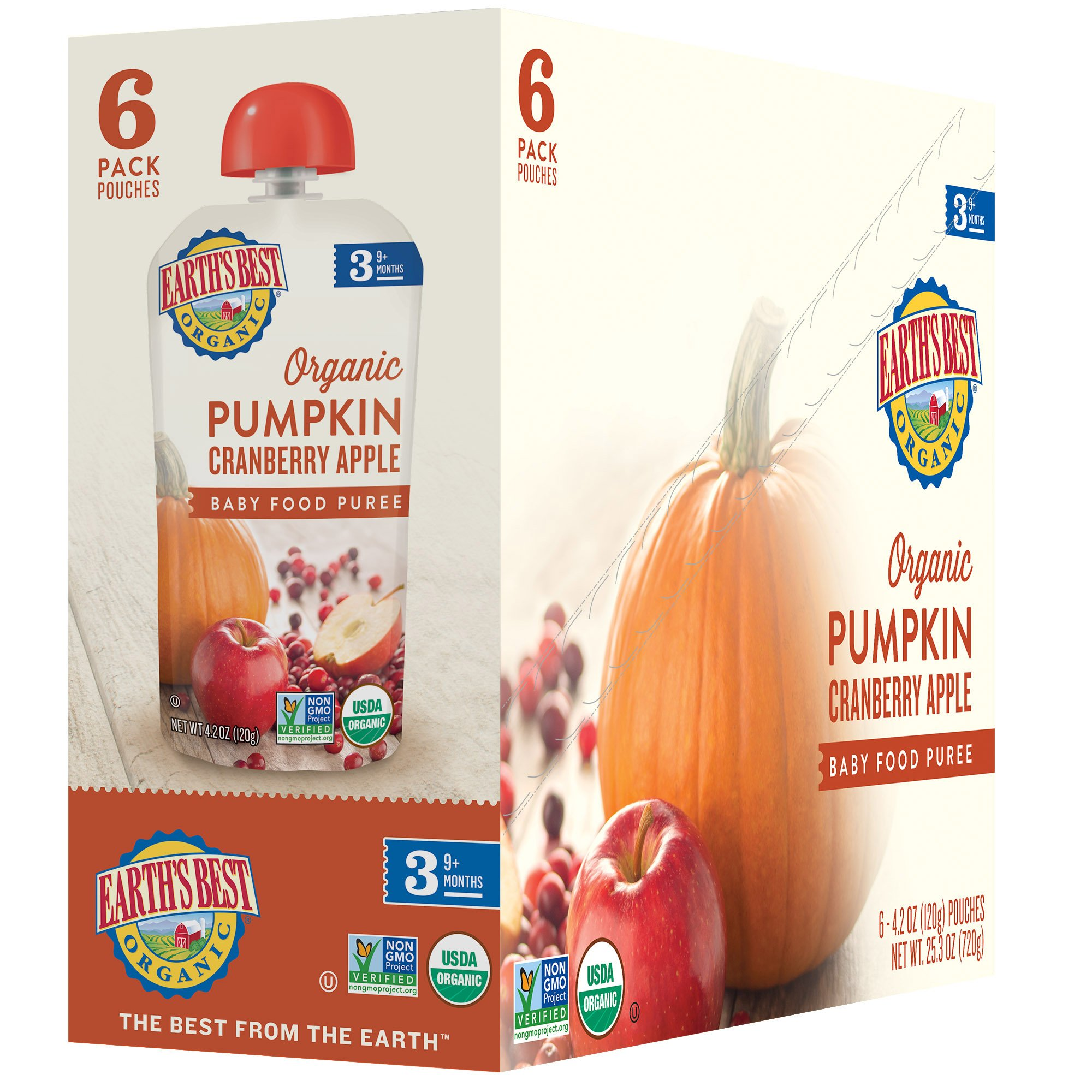 Earth's Best Organic Stage 3, Pumpkin, Cranberry & Apple, 4.2 Ounce Pouch (Pack of 12) (Packaging May Vary) by Earth's Best (Image #5)