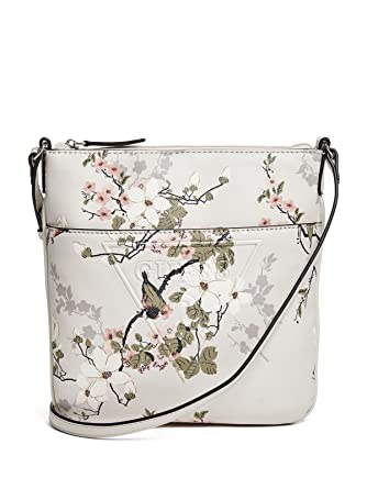 44b6fdf5b3 Image Unavailable. Image not available for. Color  GUESS Rigden Floral  Tourist Crossbody Bag Handbag