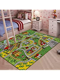 jackson large kid rug for toy cars safe and fun car rug with non - Kids Room Rugs